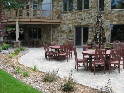 Outdoor Brick Paver Patio