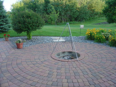 Brick Paver Fire Pit Patio