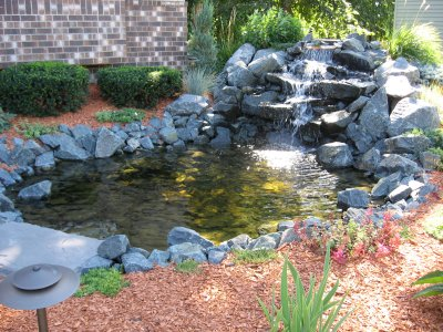 Jt construction ponds waterfalls landscaping for Landscape ponds and waterfalls pictures